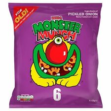 Walkers Monster Munch Pickled Onion Snack 6 x 22g - Sold Worldwide From UK