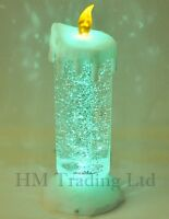 Flickering Flame Glittering Candle Colour Changing LED Light Christmas Ornament