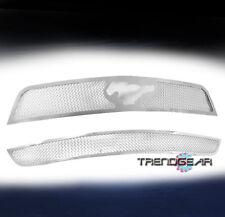 2010-2012 FORD MUSTANG V6 UPPER+BUMPER STAINLESS STEEL MESH GRILLE CHROME COMBO
