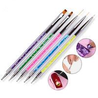 5Pcs Nail Art UV Gel Liner Drawing Brushs Flower Painting Pens Manicure Tools