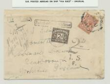 "Gb ""Posted On Board Ship"" Via Suez 1933, Postage Due Cover 1½d+2d Due(See Below"