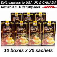 10 x Gano Excel Cafe 3 in 1 Coffee Ganoderma lucidum extract Relieve Stress Free