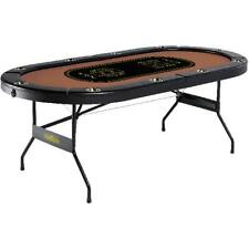 Poker Table Barrington 10-Player No Assembly Required Game Room Texas Holdem