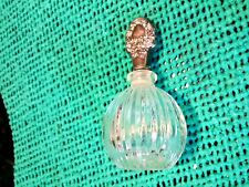 Godinger Glass Perfume Bottle w Sterling Silver Top