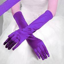 Satin Long Gloves Fashion Wedding Bridal Evening Party Opera Costume Gloves MM