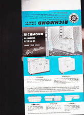 Richmond Radiator Co Brochure- Sinks & Toilets 1951 Plumbing Fixtures