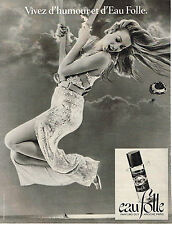 PUBLICITE ADVERTISING  1978    GUY LAROCHE  parfum EAU FOLLE