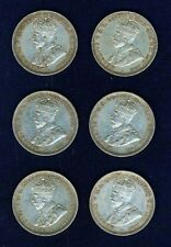 AUSTRALIA GEORGE V 1916-M  1 SHILLING SILVER COINS, VERY NICE GROUP LOT OF (6)
