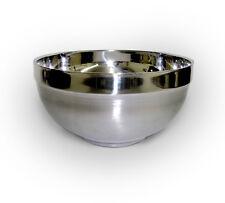 1 Pcs Vacuum Stainless Steel Double Soup Salad Noodle Bowl Solid Silver 16 cm BW