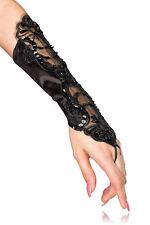 Fingerlose Damen-Handschuhe mit Ellenbogen-Länge aus Polyester
