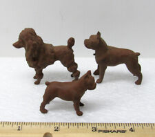New ListingVintage Antique 1940s - 3 Toy Dogs - Brown Plastic