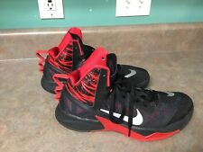 Men's Nike Zoom Hyperfuse 615896-001 Black & Red Shoes Size 9.5 (CON4)