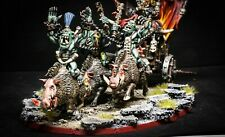 Grimgor Hironhide Black Warboss Orc on chariot aos Warhammer