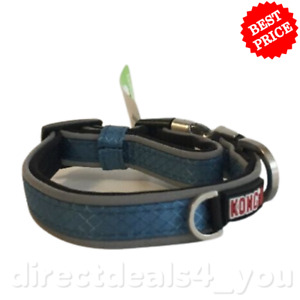*NEW* KONG Comfort & Reflective Padded Collar (Small 10-14 in) Blue
