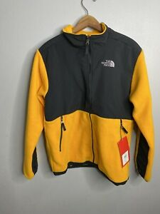 The North Face Denali Fleece Jacket Women's XL Boys Yellow Black Full Zip