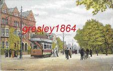 Postcard: Victoria Park / London Road, Leicester LE2. Trams Period Costume c1905
