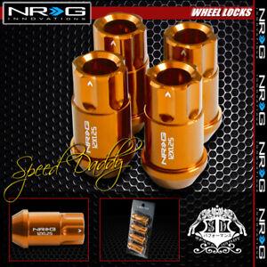 "FOR SUBARU IMPREZA/240SX ROSE GOLD 4 X NRG M12X1.25 1.75"" LUG NUT LOCK"