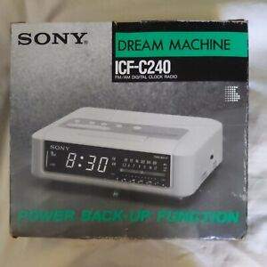 Sony Dream Machine Dark Gray Digital Alarm Clock Radio New