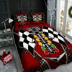 Drag Racing Bedding Set Gift For Men Boys Sons