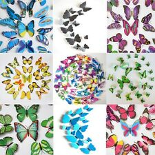 12pcs 3D Butterfly Sticker Art Design Decal Wall Stickers Home Decor Multi Color