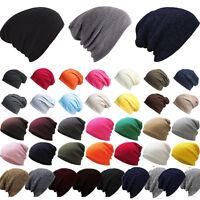 Men Women Unisex Beanie Skull Baggy Caps Winter Casual Slouchy Knit Ski Hats