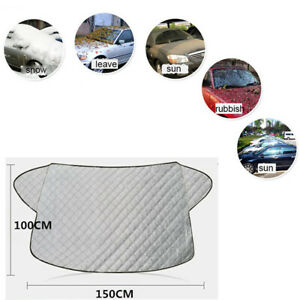 1x Car Windshield Snow Cover Sun Shade Protector with Cotton Thicker For Winter