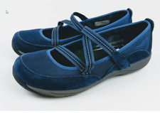 Dansko Hazel Flats Mary Jane Dark Blue Suede Size 39
