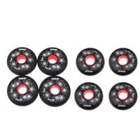 8 Pieces Outdoor Inline Skate Hockey Wheels Fitness Replacement 72mm+80mm
