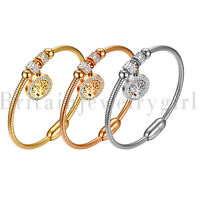 Stainless Steel Tree of Life Charm Beads Magentic Bangle Bracelet for Women Lady