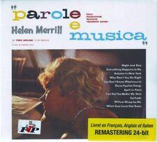 HELEN MERRILL  Parole E Musica  NEW  Remastered  Reissue  CD Album  2000  Spain
