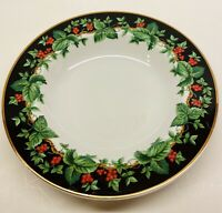 Waverly Holiday Bouquet Soup Cereal  Bowl  Christmas Dishes Made in Poland