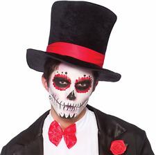 Adulte Homme/Femme Noir Déguisement Halloween Chapeau Haut-De-Forme Effrayant