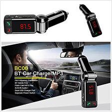 Wireless Bluetooth 2 USB Port Car Kit FM Transmitter Radio MP3 Player Hands-free