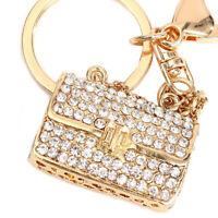 Crystal Rhinestone Handbag Charm Pendant Keychain Bag Key Keyring O6S5