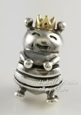 QUEEN BEE Authentic PANDORA Two Tone Silver/14K GOLD Charm 790227 NEW w POUCH!