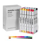Stylefile Brush Dual-Tip Ink Marker Main A Set 24pc Graffiti Sketch Art Supplies