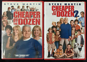 (2) Cheaper By the Dozen DVD Lot: Both Movies!!  Steve Martin w/Slipcover