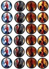 24 Muffin & Cupcake Aufleger  Oblate - Fondant Spiderman C4