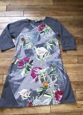 Braintree Thoughtful Clothing Organic Cotton Grey Floral Tunic UK10-12