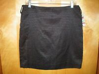 NWT NEW womens size 8P black INC lined short straight skirt $79 retail