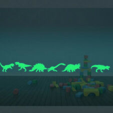 9PCS Luminous Wall Stickers Hot Dinosaur  Home Decor Fluorescent  Kids Room New