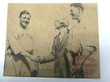 Babe Ruth Vintage Louisville Slugger Hillerich & Bradsby 10 x 8 Ad Sign Hof