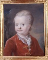 """perfect 30x30 oil painting handpainted on canvas""""A little boy """"@7954"""