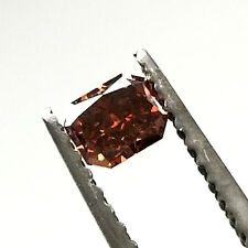 0.28 CT Fancy Red Orange Brown Color GIA Certified Natural Loose Diamond Radiant
