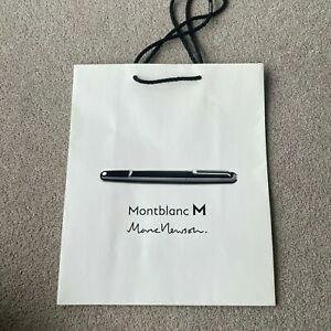Authentic Montblanc Mont Blanc Shopping Bag Paper Bag Gift Bag Luxury Packaging
