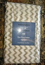 NEW  Vera Wang grey 800 count PURE  COTTON standard pillowcase 2 in pack