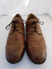 "Guess Men's Brown Cap Toe Oxford Dress Shoes Size 8M 1"" Heel Make me an Offer!"