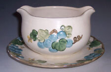 Metlox Pottery Poppy Trail Gravy Boat with Attached Saucer