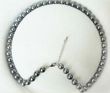 8 mm dunkelgrau south sea Shell Perlenkette 46cm