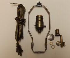 "TABLE LAMP WIRING KIT WITH PUSH-THRU SOCKET, 8"" HARP, CORD SET NEW 30552A8JB"